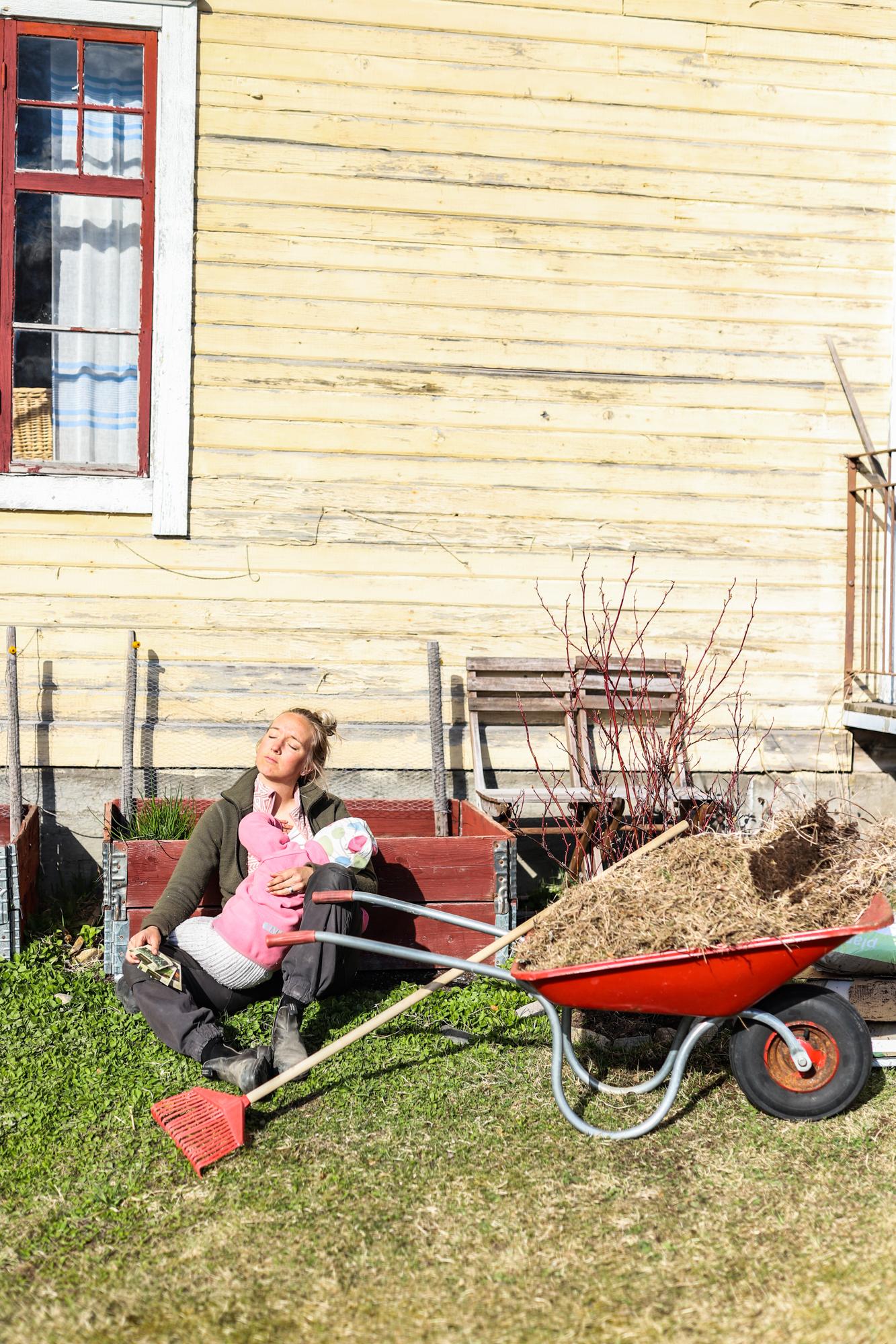 Vårstäd av trädgård och drömmen Årets Vårprimörer i pallkragarna!