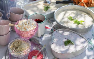 Hemgjord glassbuffé på kalaset! Larvigt enkelt och barnsligt gott!